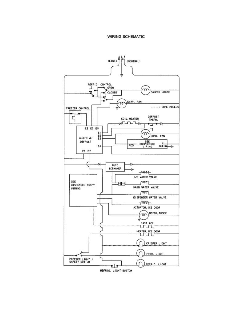 Kenmore Compressor Wiring Diagram - sxs ge fridge ice maker ... on