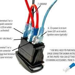 Led Wiring Diagram 120v 2 Pickup 1 Volume Tone 3 Way Switch Lighted Rocker New