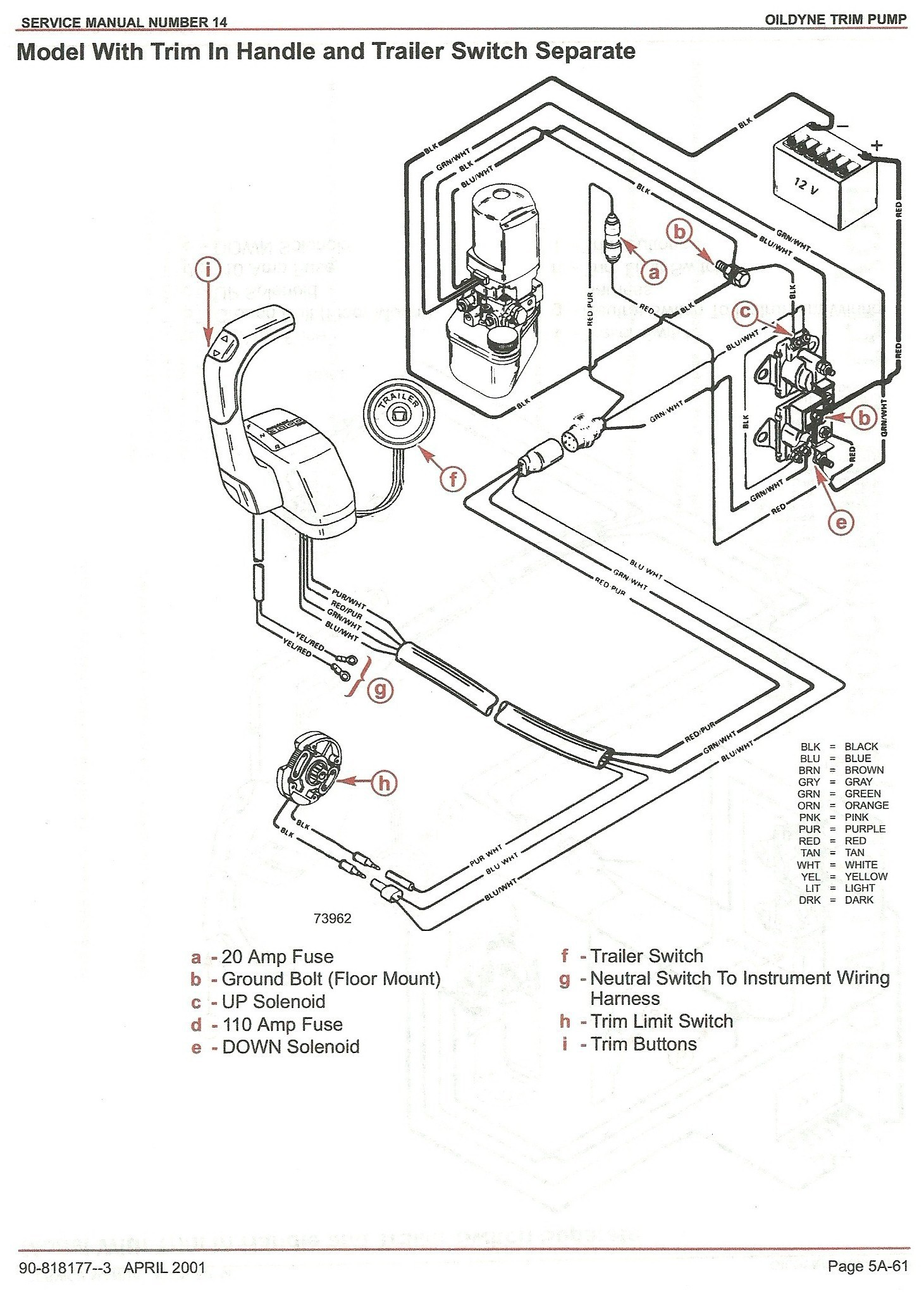 Mercury Outboard Power Tilt Wiring Diagram