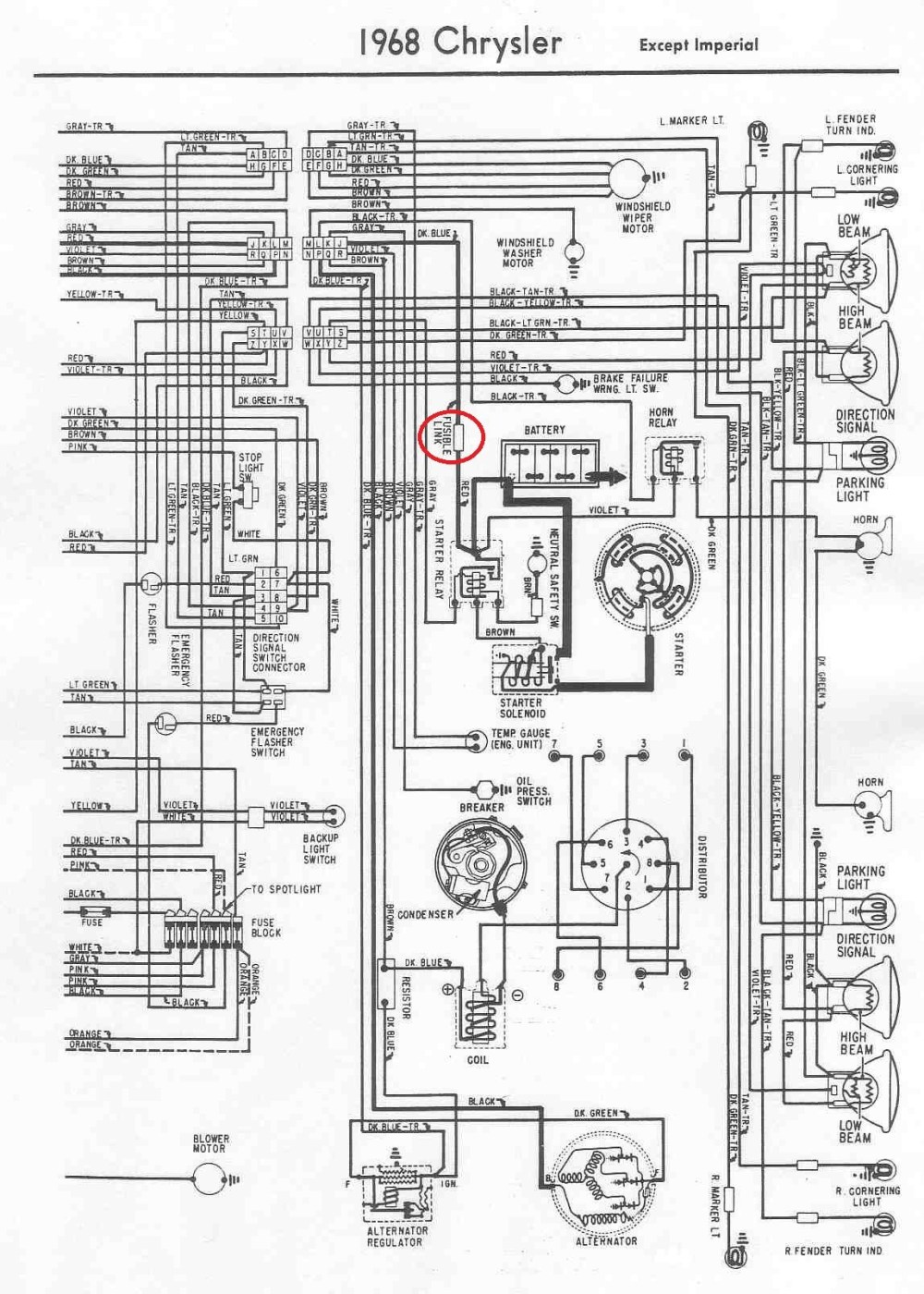 medium resolution of 1950 plymouth engine wiring diagram manual e book 1959 chrysler wiring diagram