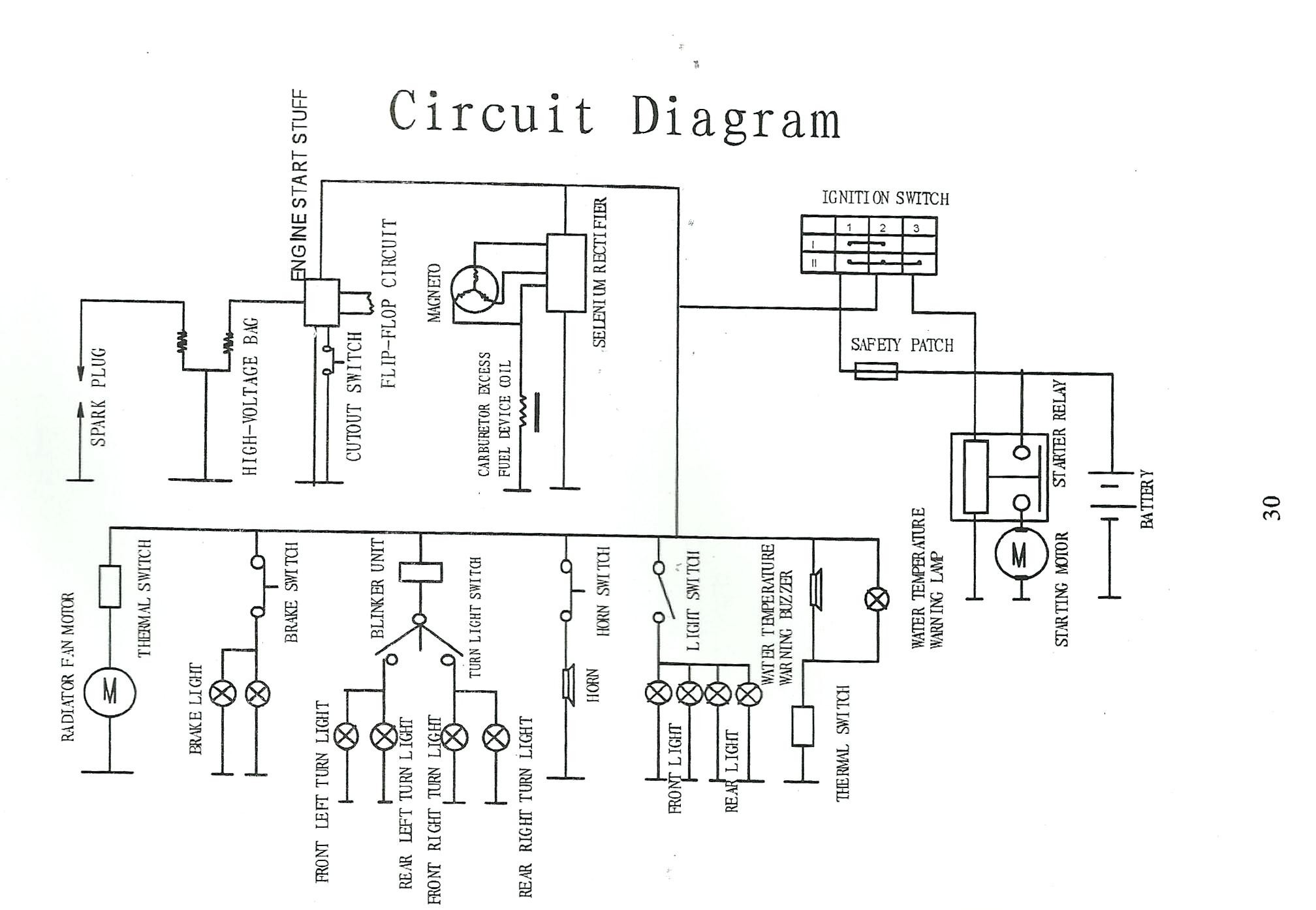 wiring diagram for 110cc chinese atv