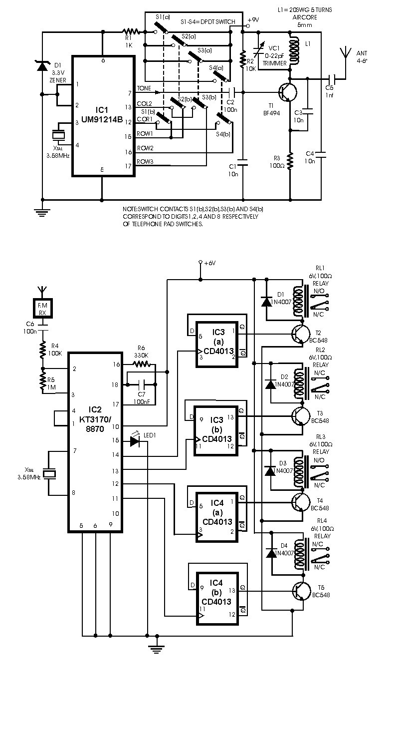 Schematic Circuit Diagram Of Remote Control Auto Electrical Wiring Tv Using Sl490 Related With