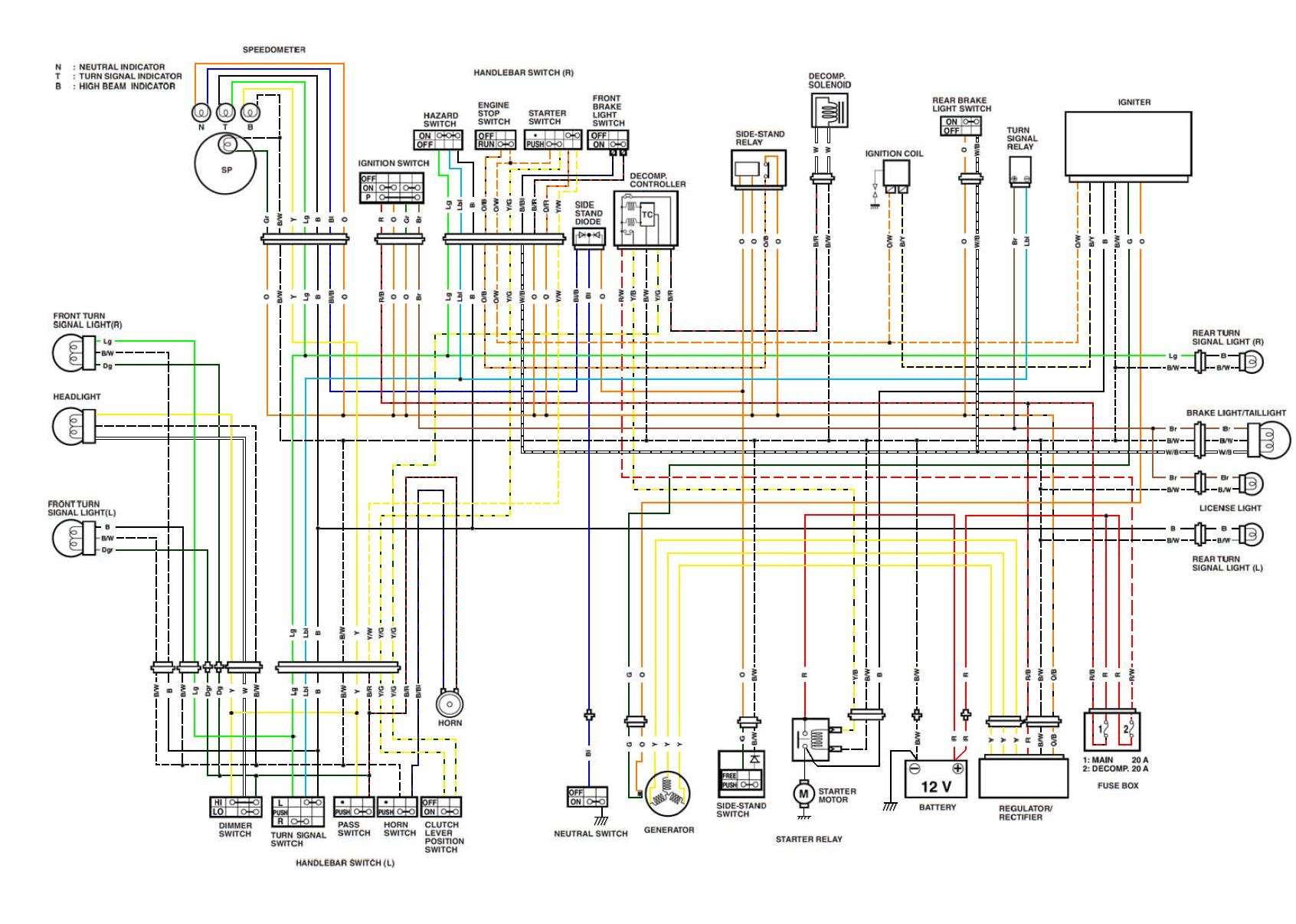 honda goldwing 1200 wiring diagram ethernet cable wire library further klr 650 rh 45 32 228 236