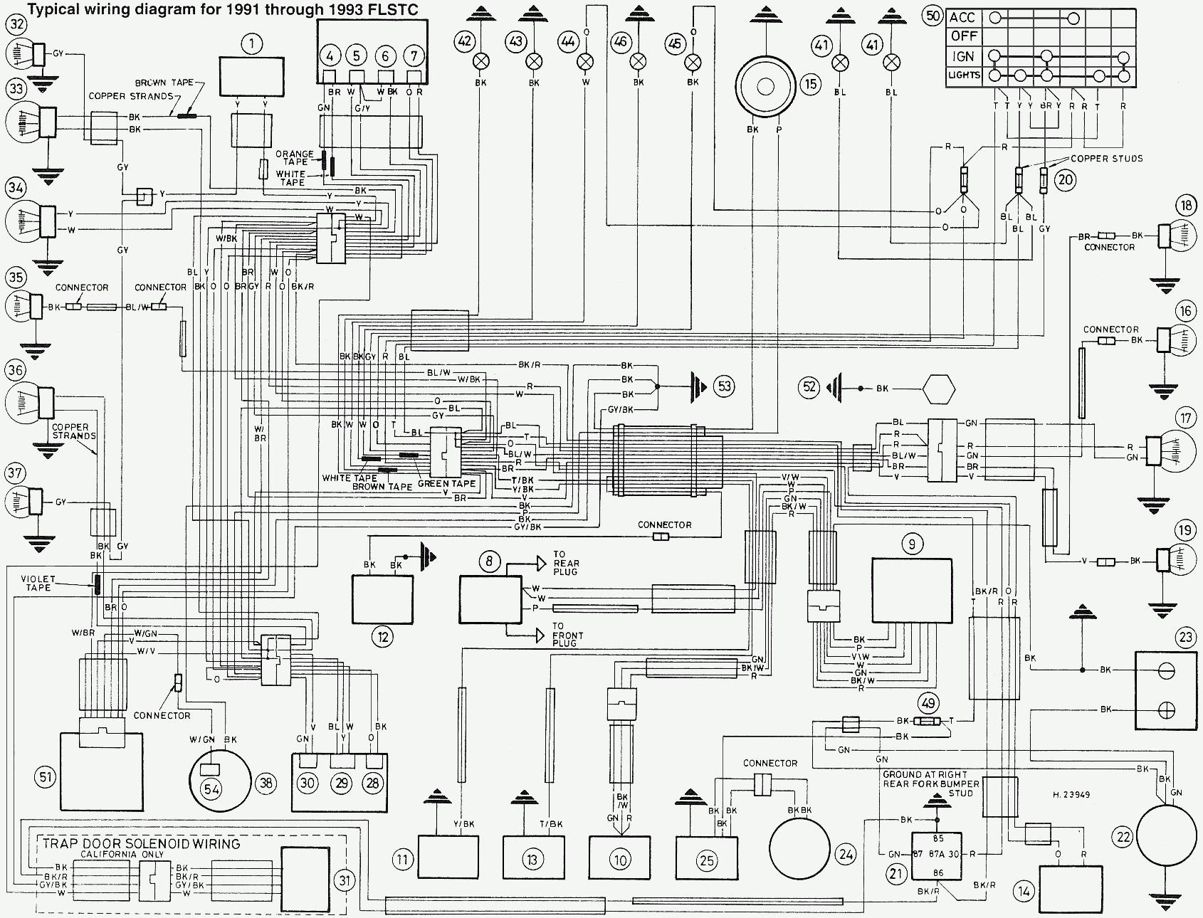 harley davidson fxst wiring diagram wiring diagram directory Harley Davidson Electric Starter