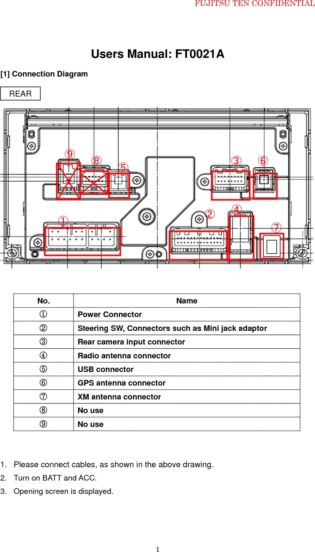wiring diagram for car stereo toyota facial muscles unlabeled fujitsu ten 86120 image