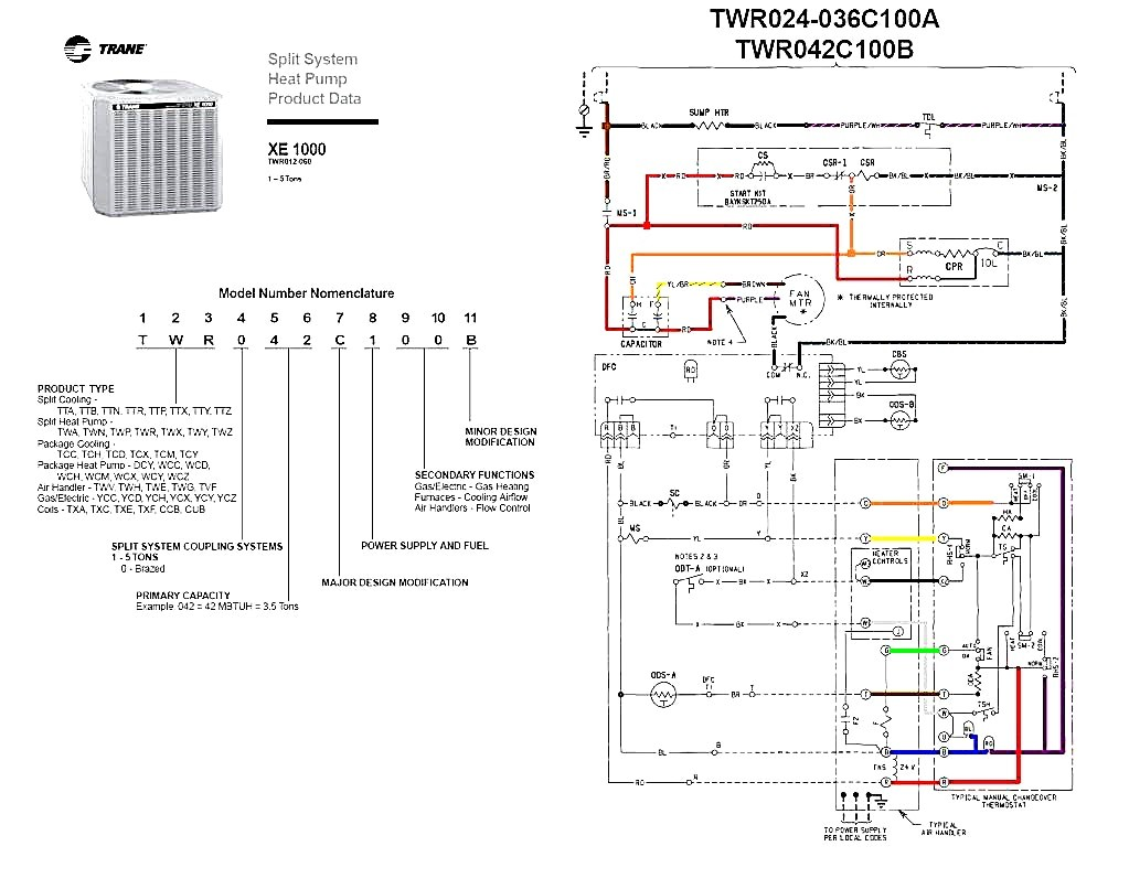 Trane Wiring Schematics - Wiring Diagram Perfomance on