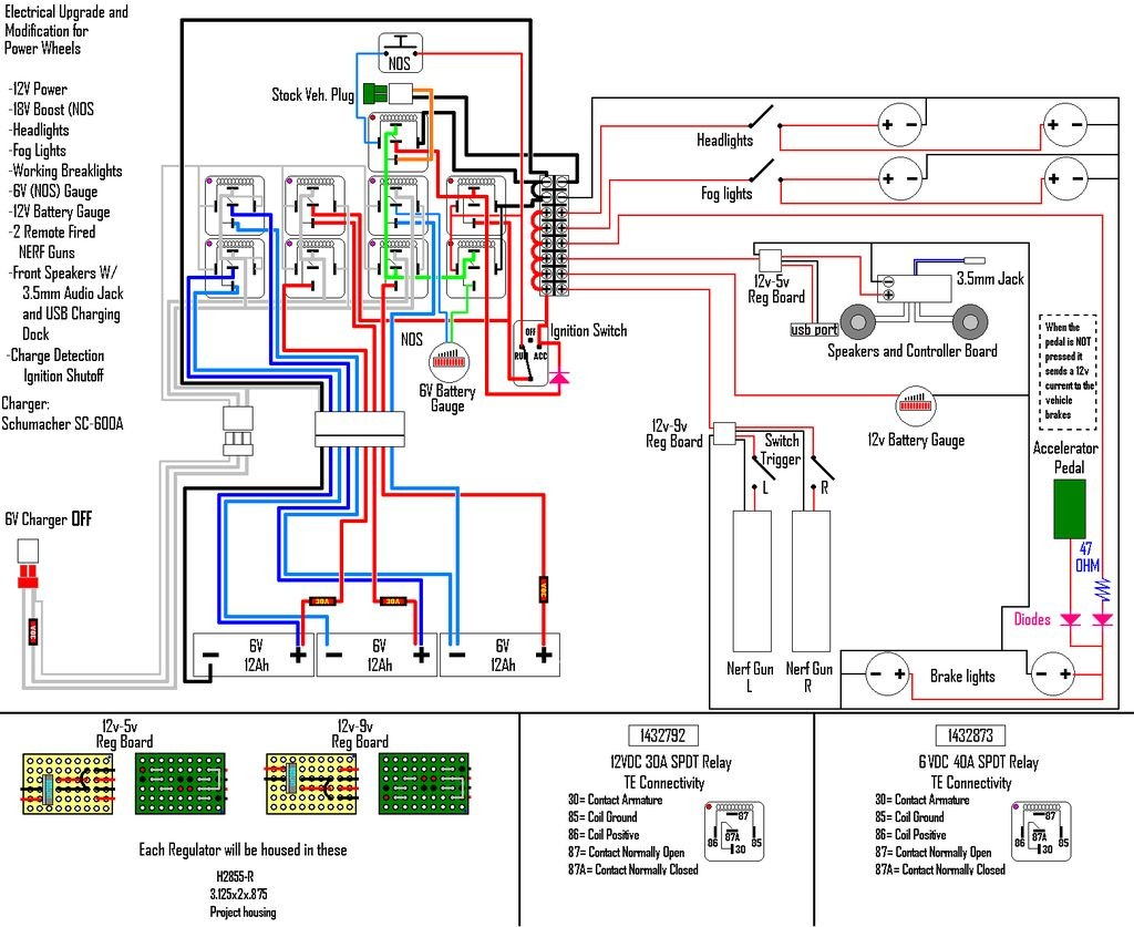 wiring diagram for caravan battery charger traxxas grave digger parts car charging system library