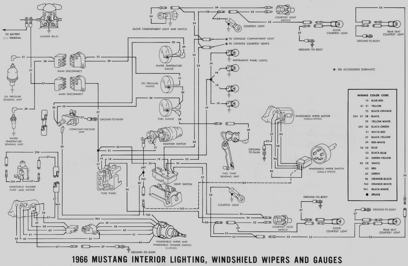 Mustang Console Wiring Diagram