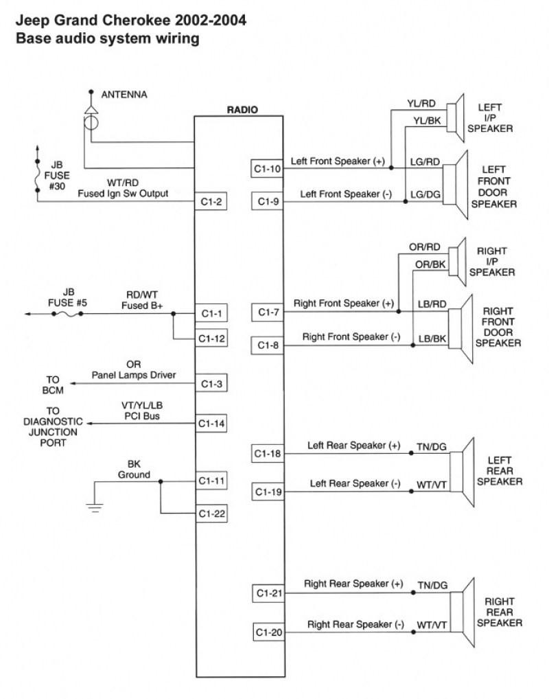 2000 Jeep Grand Cherokee Radio Wiring Diagram Wiring Diagram Photos