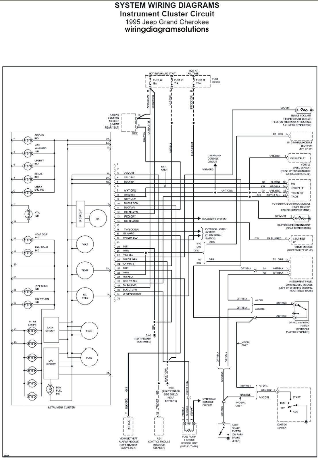 1999 Jeep Grand Cherokee Infinity Stereo Wiring Diagram