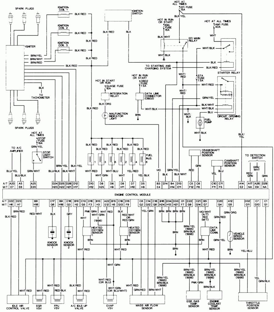 1998 toyota tacoma alternator wiring diagram   data wirings vacuum  wiring diagram library