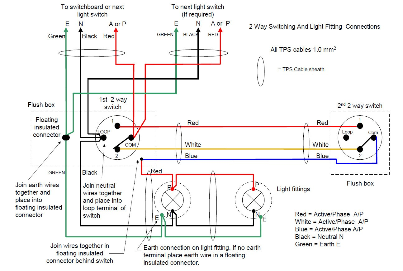 hight resolution of do staircase wiring circuit with 3 different methods electrical brilliant 2 way switch diagram