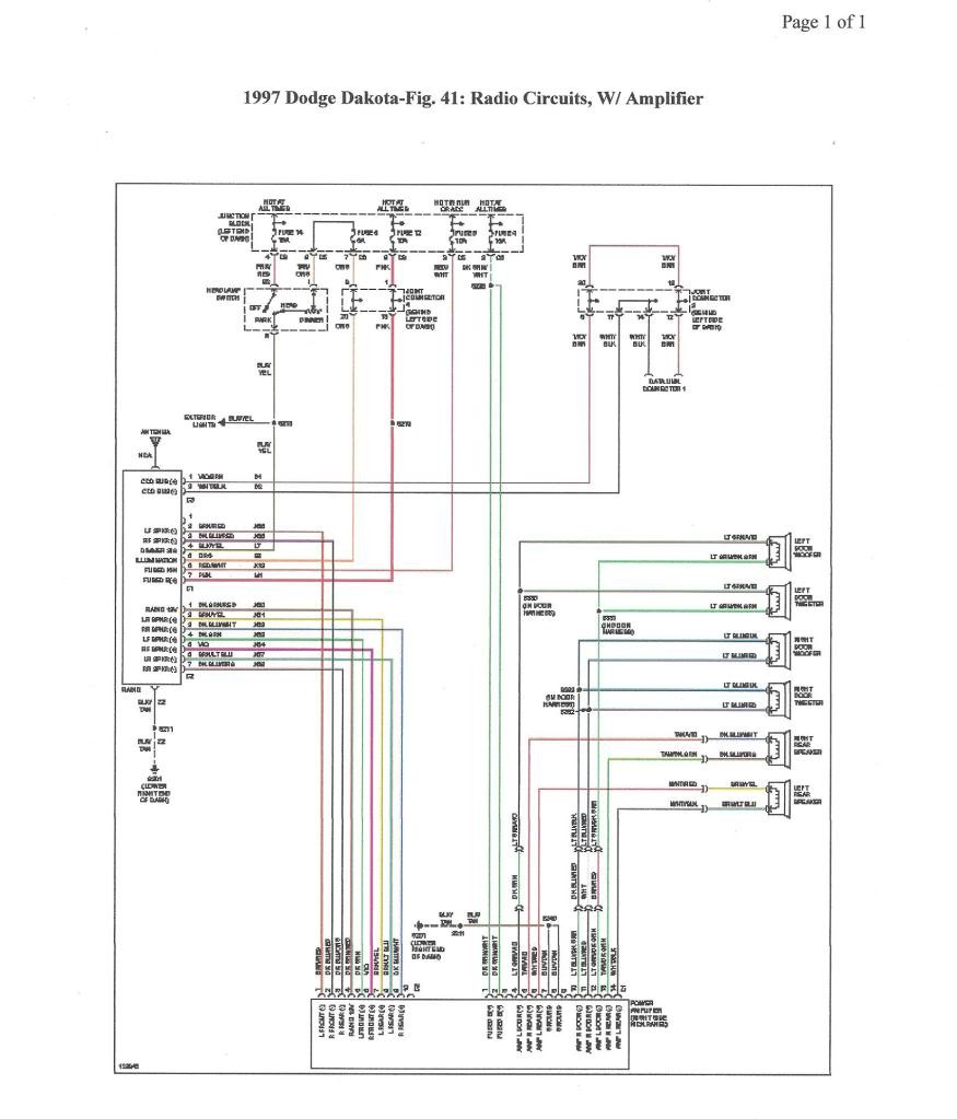 File: 98 Dodge Dakotum Dash Wiring Harnes Diagram