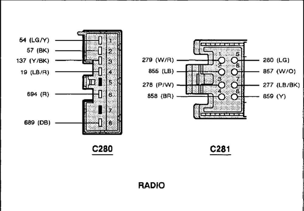 medium resolution of 1993 ford thunderbird lx radio diagram diy enthusiasts wiring 1994 ford tempo wiring diagram 1993 ford
