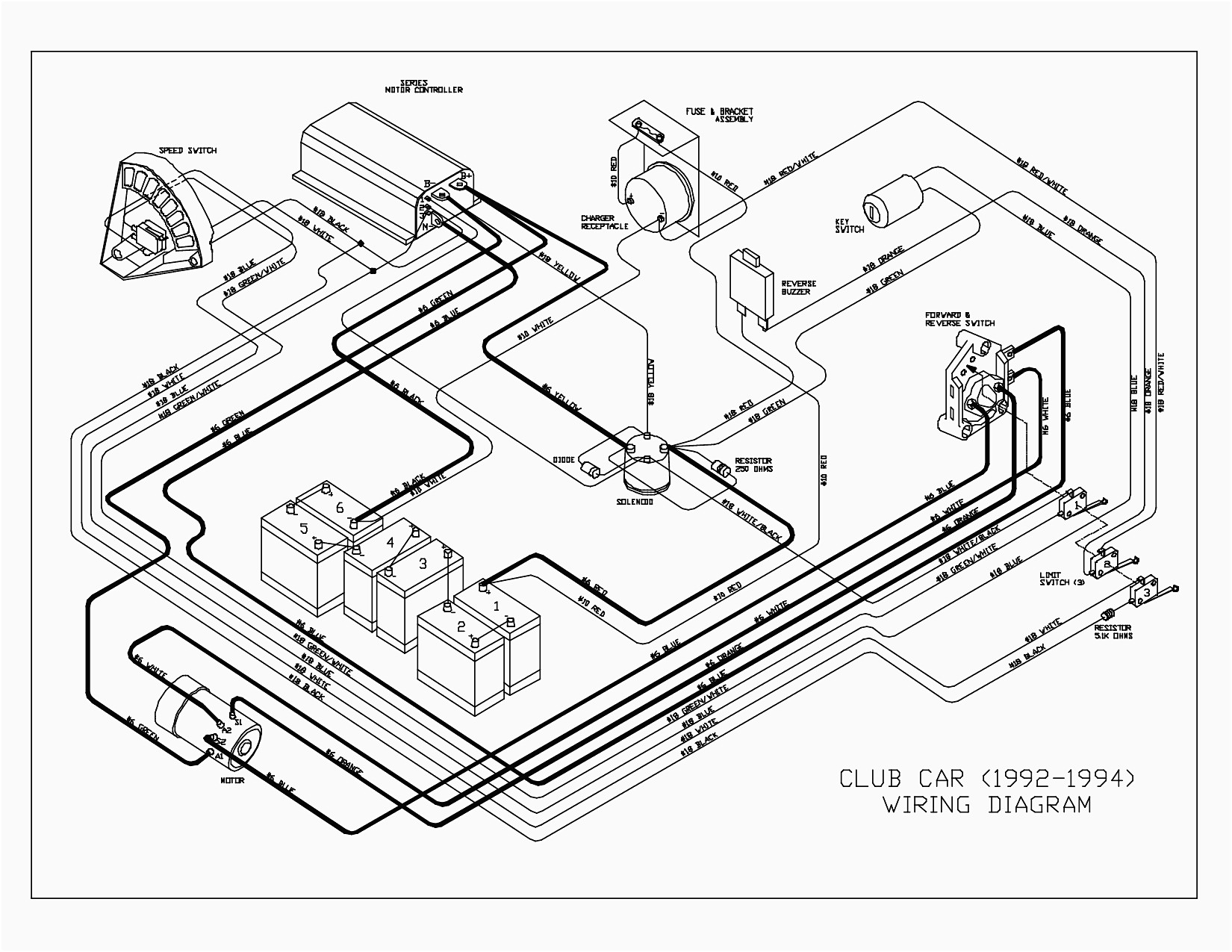 Club Car Golf Cart Lights Wiring Diagram