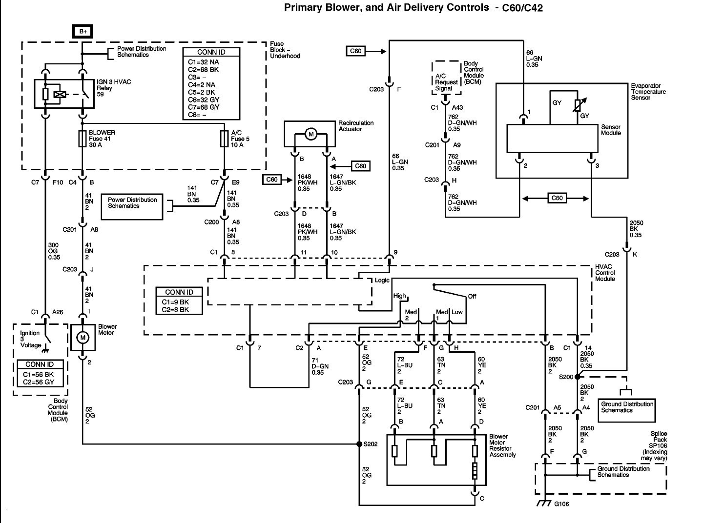 2004 Chevy Silverado Blower Motor Resistor Wiring Diagram