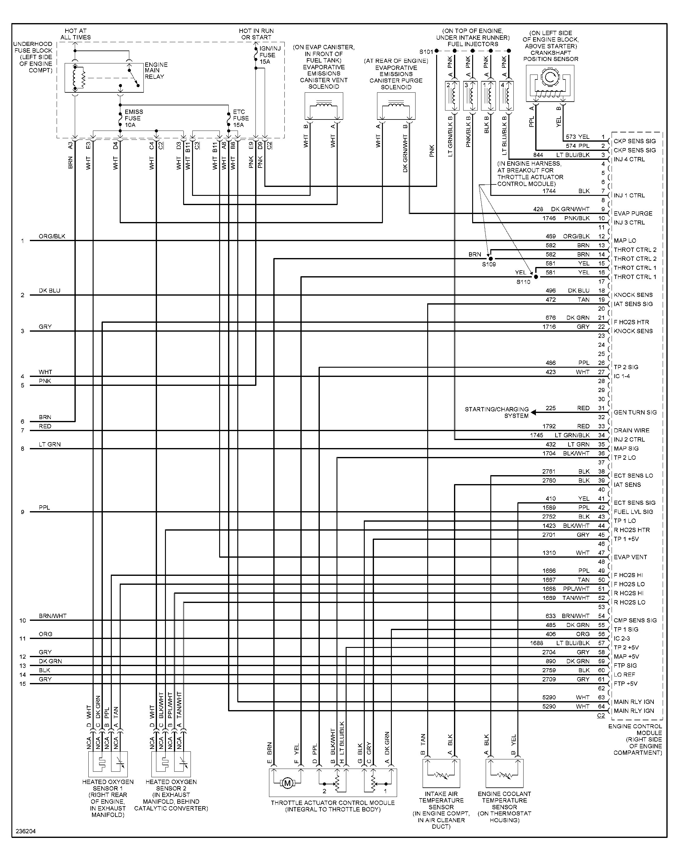 Appealing Scion Tc O2 Sensor Wiring Diagram Contemporary