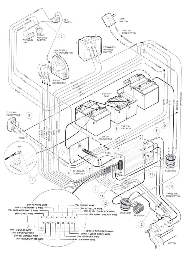 medium resolution of 1976 caroche club car battery diagram wiring diagram used 84 club car wiring diagram wiring diagram