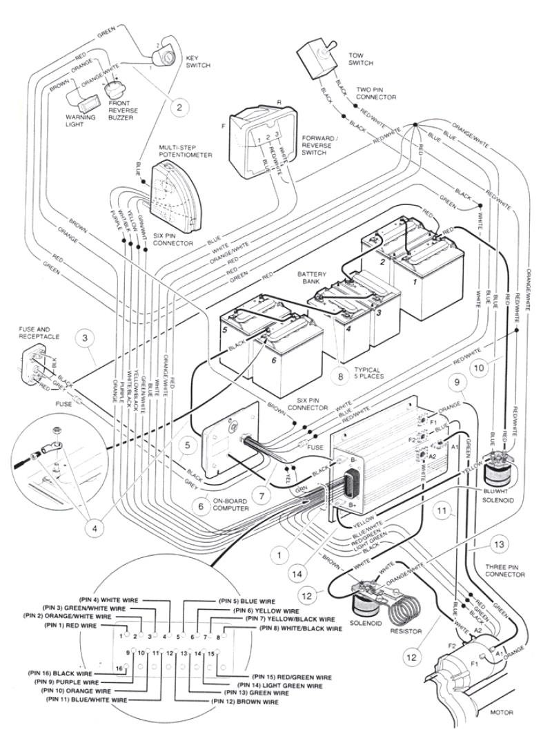 hight resolution of club car wiring schematic manual e book