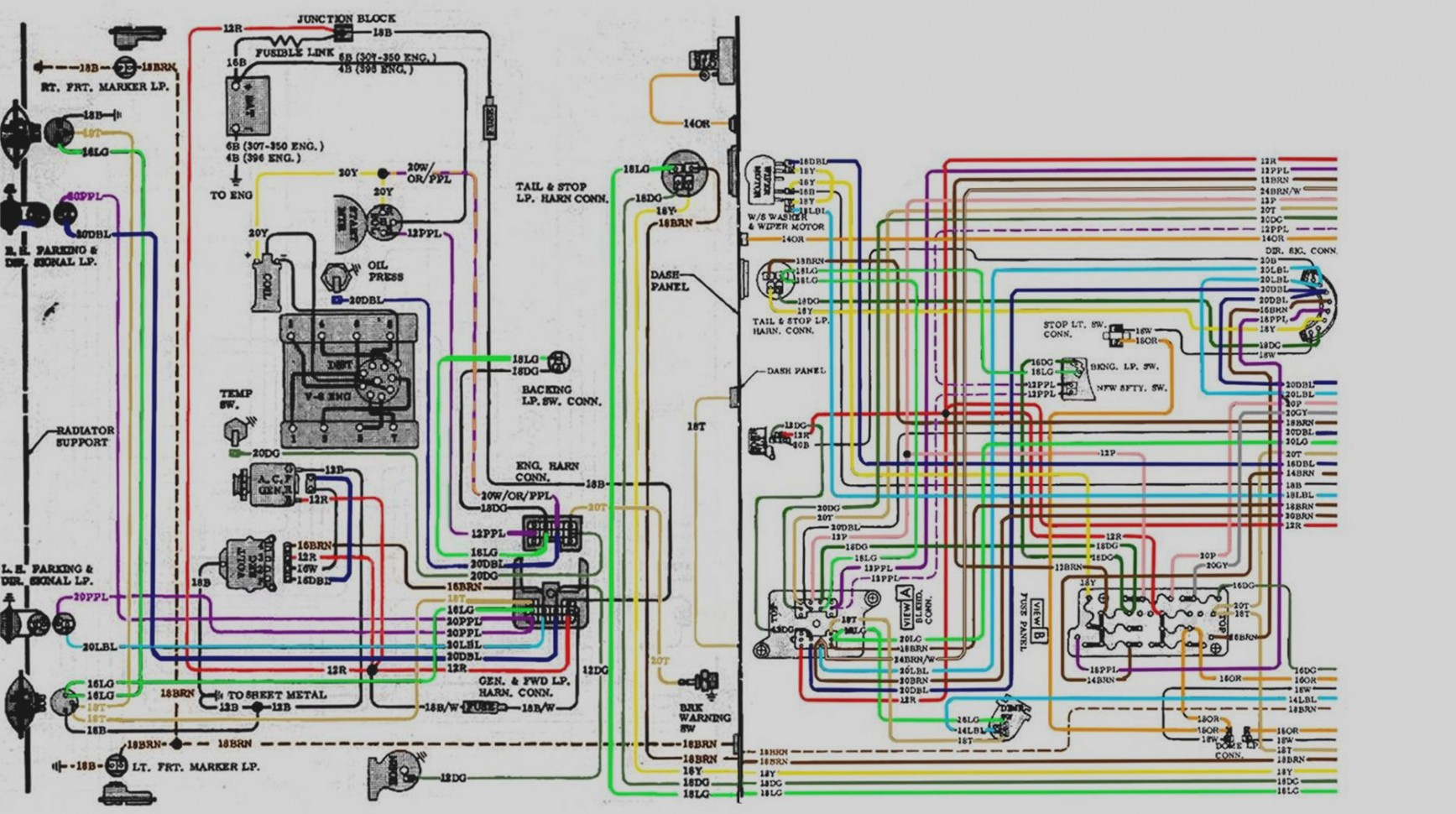 72 chevy wiring diagram 2016 ford fiesta 71 c10 data harness detailed 350 starter 1970 gmc