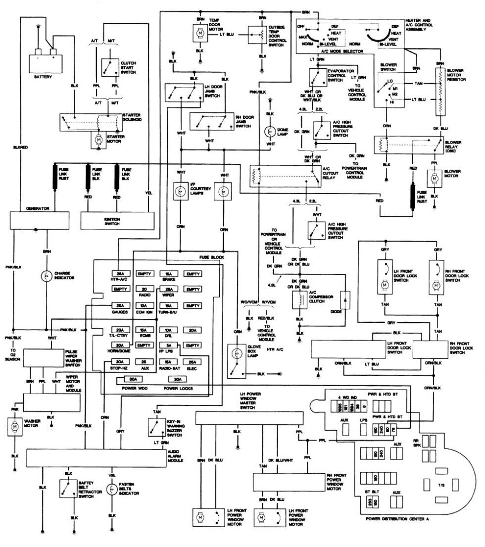 1988 Chevy S10 Blazer Wiring Diagram • Wiring Diagram For Free
