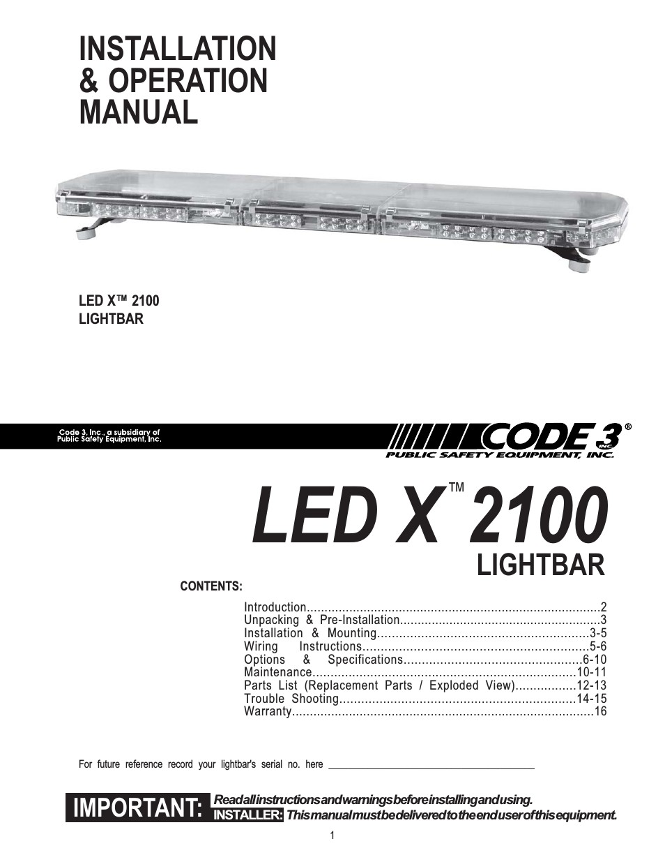 2100 Series Light Bar Furthermore Code 3 2100 Light Bar Wiring Code 3  RX2700 Parts Code 3 Rx2700 Wiring Diagram
