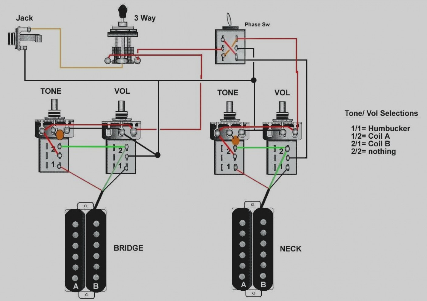 Hss Wiring Diagram 1 Tone Pot. Hss Wiring 5-way Switch