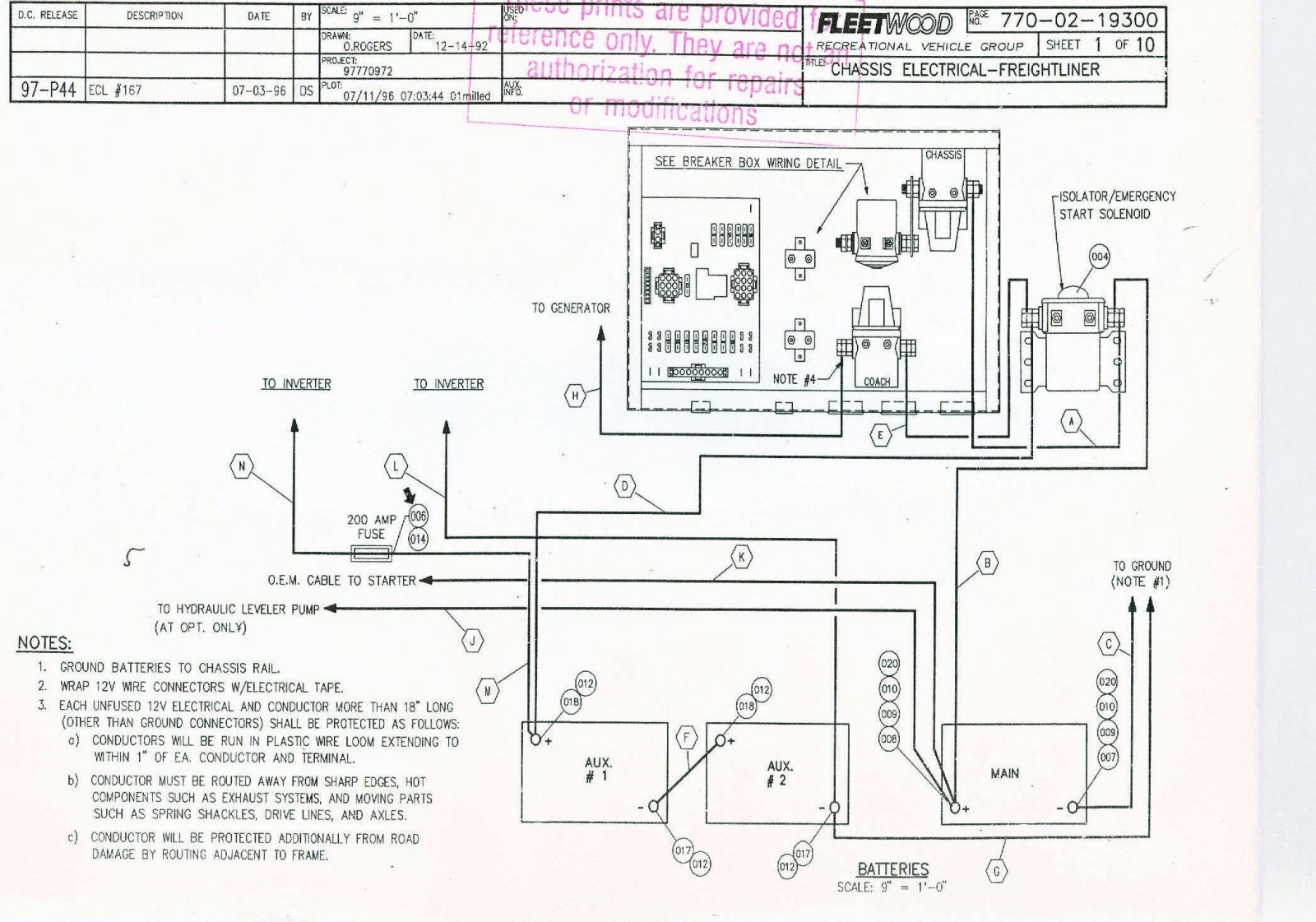 Fleetwood Bounder Motorhome Wiring Diagram | Online Wiring Diagram