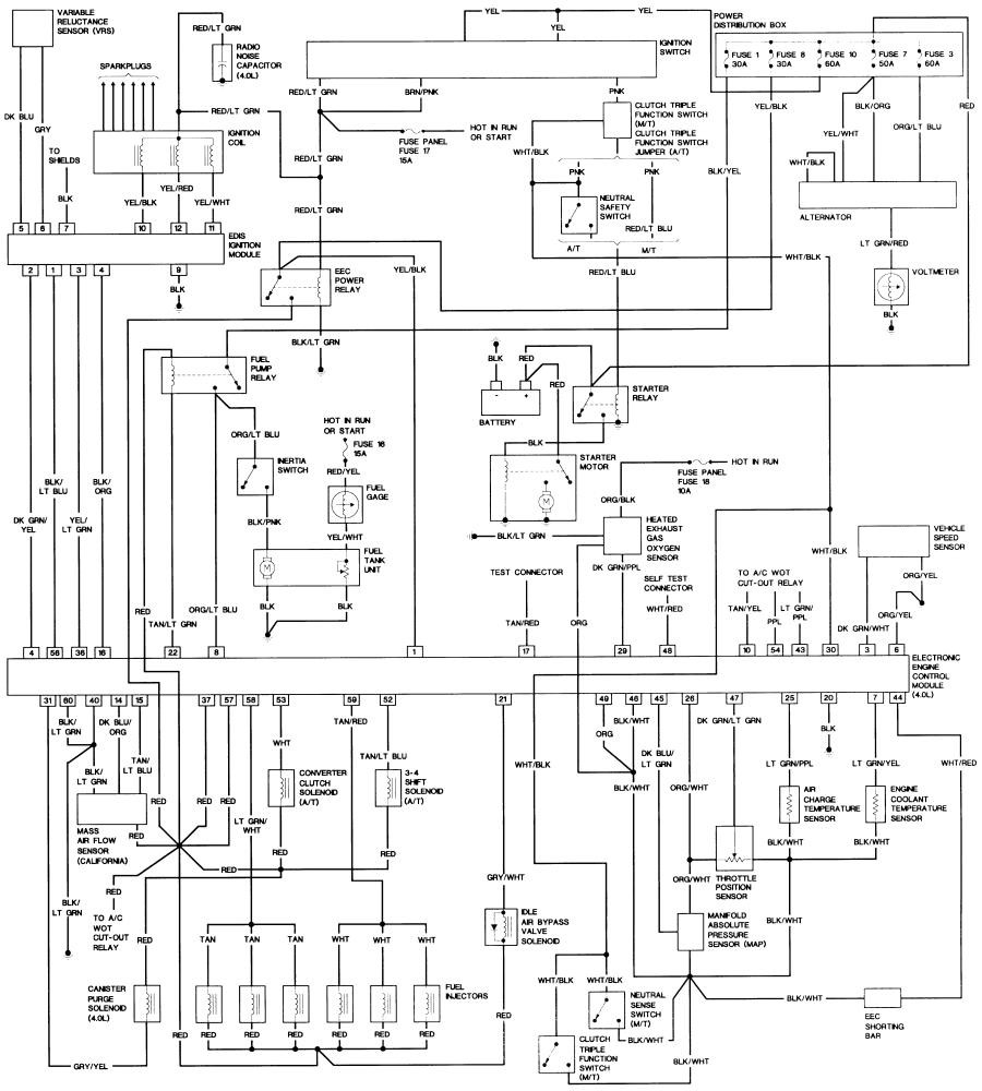 medium resolution of 1990 ford bronco 2 alternator wiring diagram