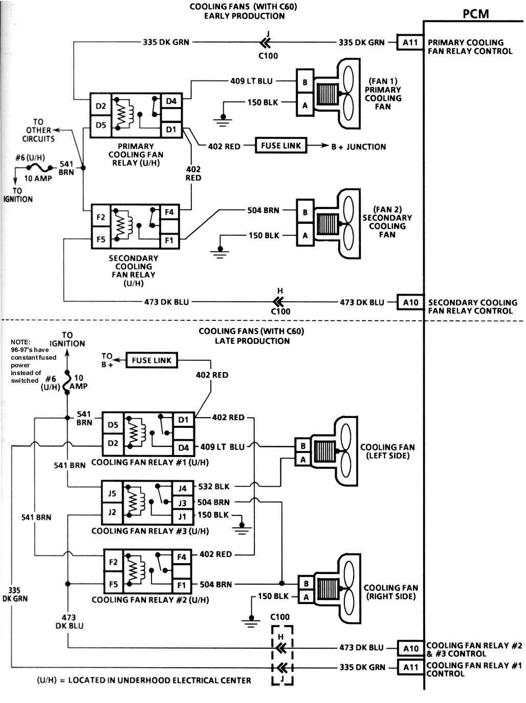 1985 corvette cooling fan wiring diagram guitar 2 humbucker 1 volume c4 heater  for