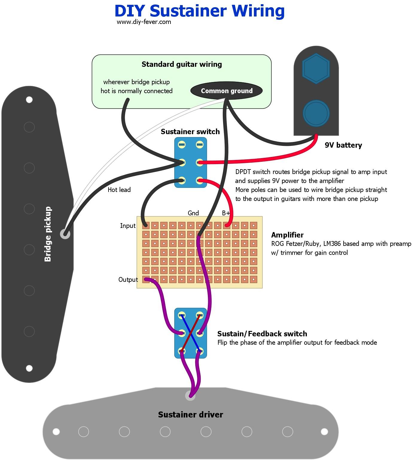 wiring diagrams guitar 7 pin plug diagram electric input jack library