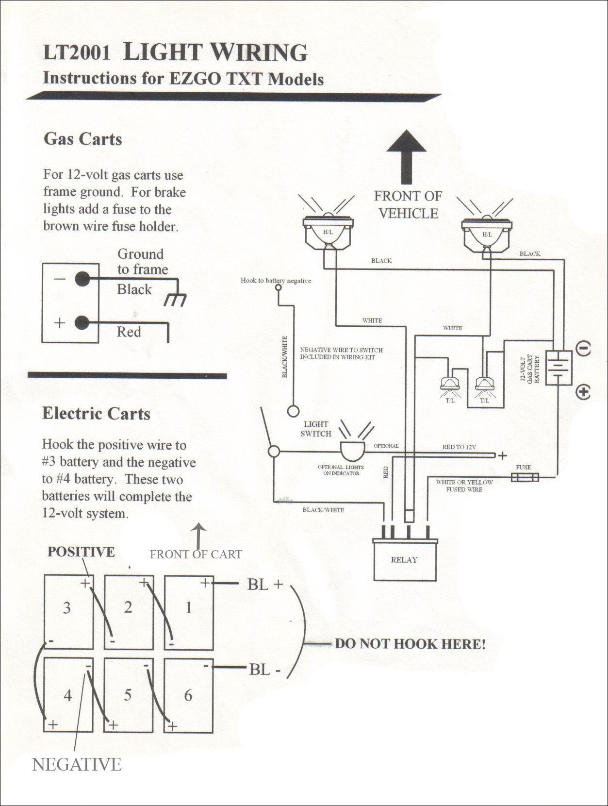 wiring diagram ez go workhorse 1000