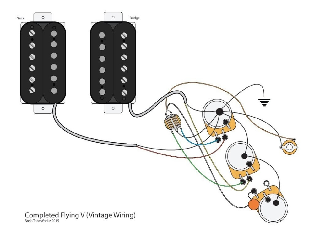 medium resolution of gibson flying v wiring diagram