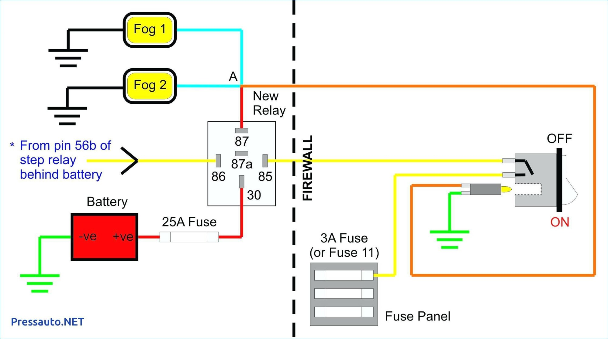 hight resolution of 12 volt relay wiring diagrams fog lamp wire center u2022 auto fog light wiring diagram toggle switch