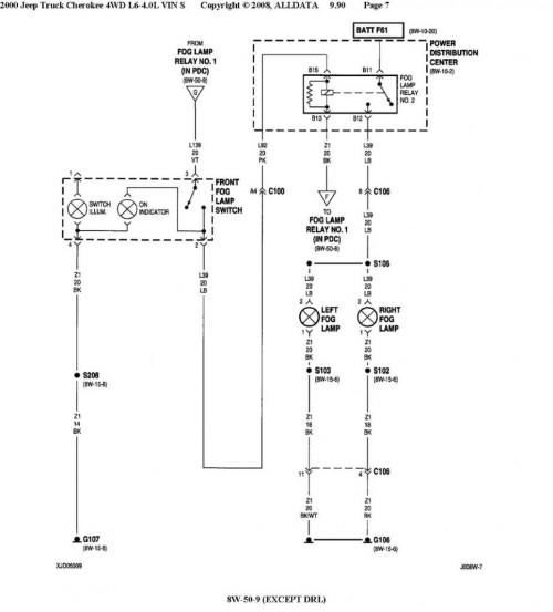 small resolution of car wiring oem fog light front lighting jeep wagoneer throughout diagram fog light wiring diagram without