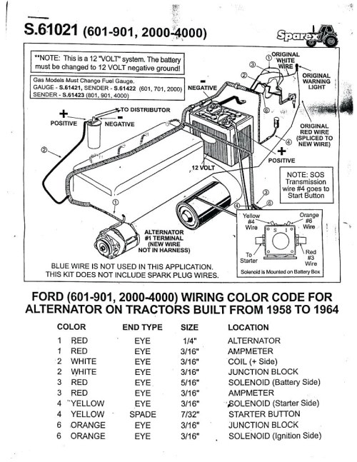 small resolution of 1953 ford naa 6 volt wiring diagram electrical drawing