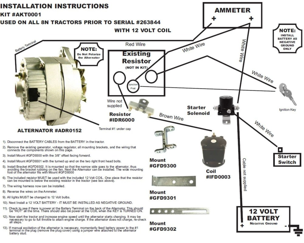 medium resolution of 12v generator wiring wiring diagram used ford tractor wiring