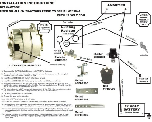 small resolution of 12v generator wiring wiring diagram used ford tractor wiring