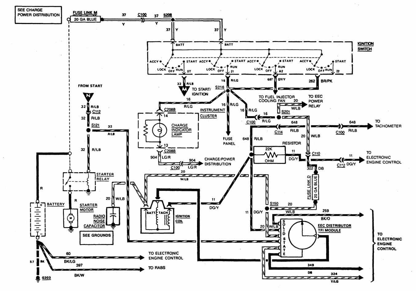 hight resolution of 1986 ford ranger starter wiring diagram