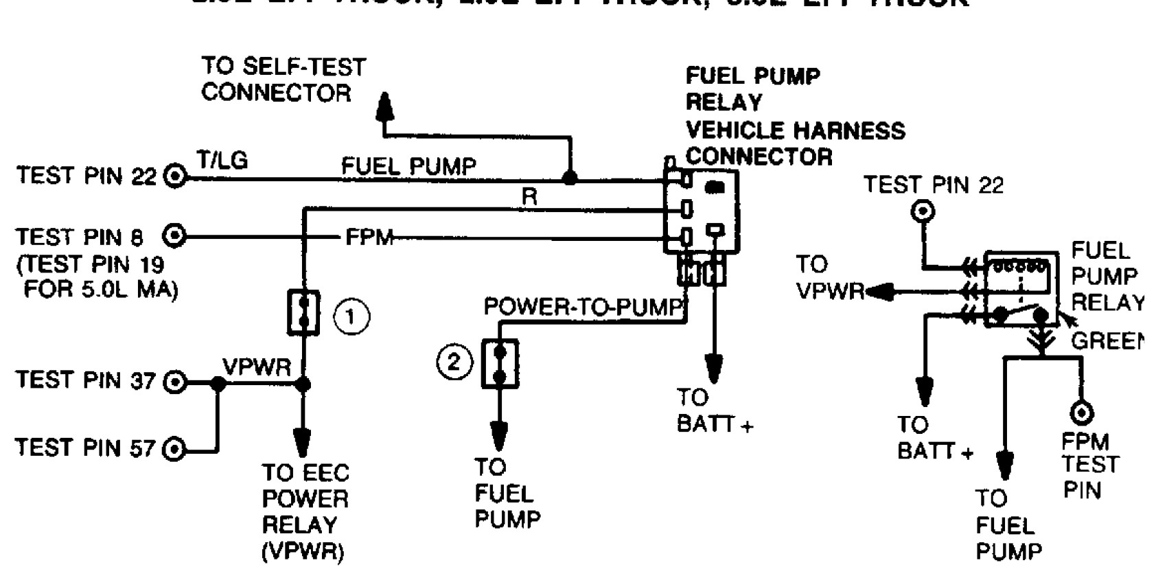 ford fuel pump relay wiring diagram 3 gang light switch multiple lights best library gm connector 1989 ranger obd1