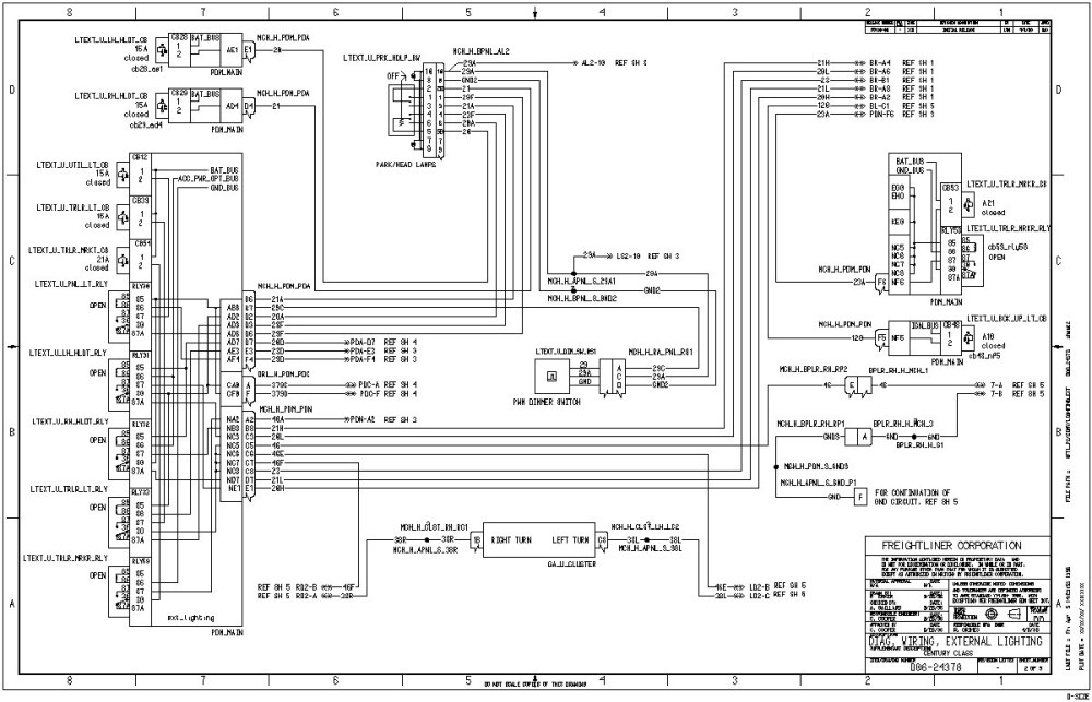 medium resolution of description 2002 freightliner columbia fuse diagram 2005 with headlight wiring