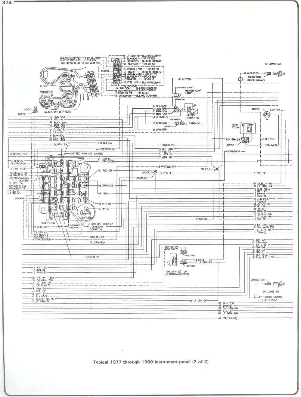 medium resolution of 77 80 instrument pg2 with 78 chevy truck wiring diagram wiring diagram chevy starter solenoid wiring freightliner