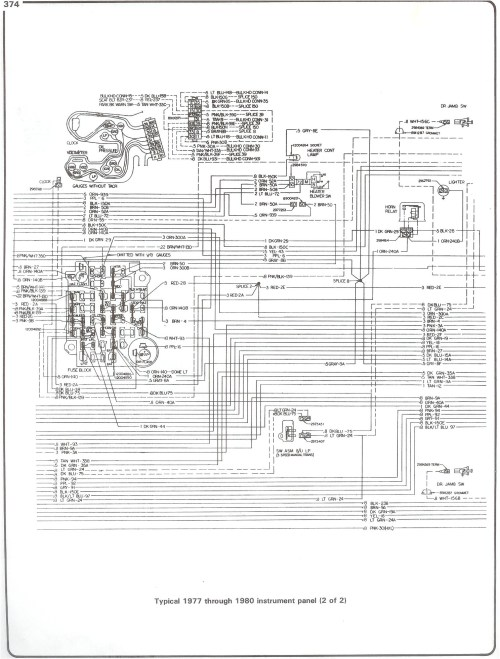 small resolution of 77 80 instrument pg2 with 78 chevy truck wiring diagram wiring diagram chevy starter solenoid wiring freightliner