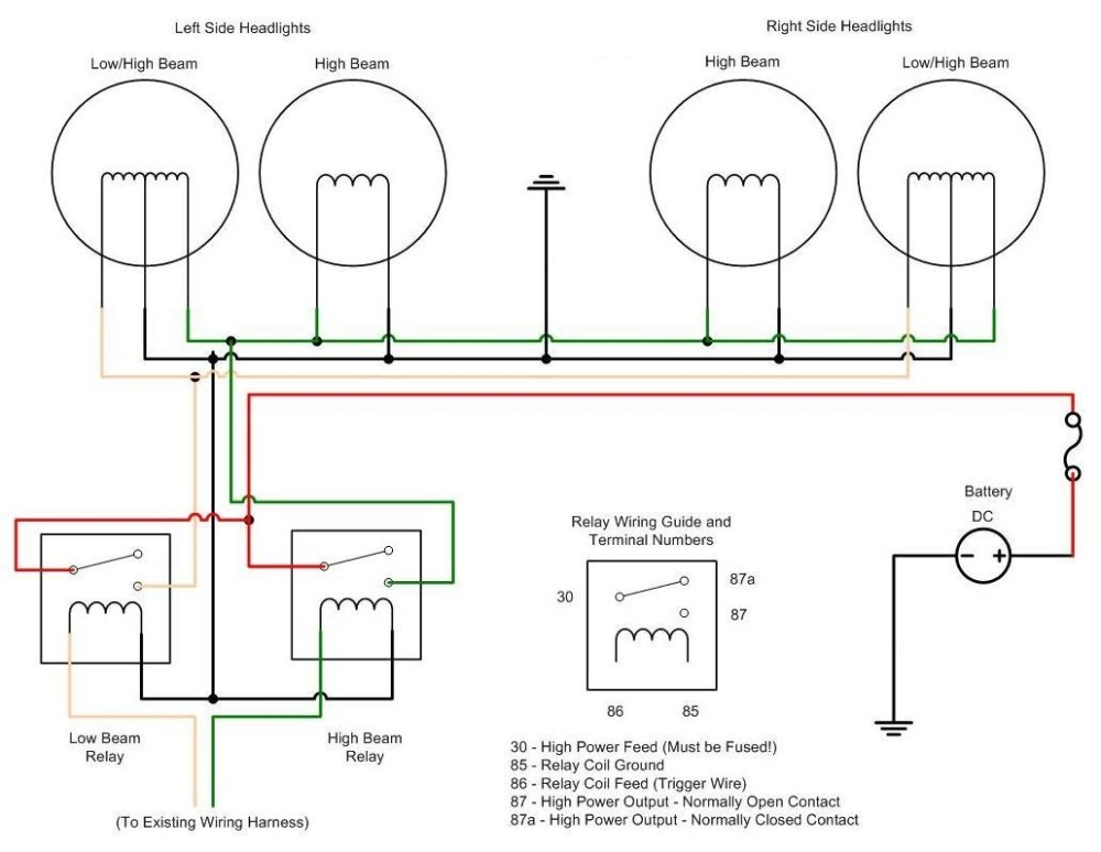 medium resolution of halogen headlight wiring diagrams wiring diagram hid wiring diagram h4 wiring diagram