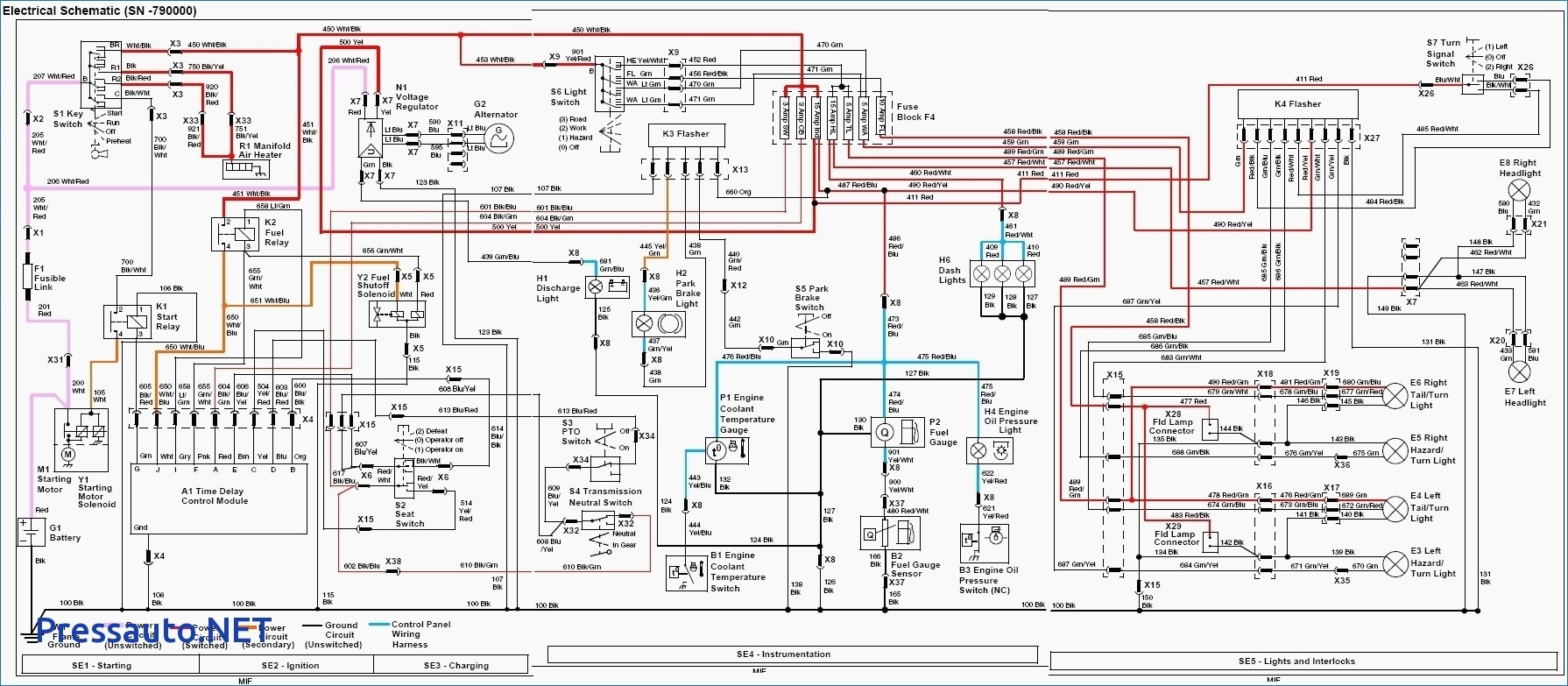 John Deere Wiring Diagrams - Engine Mechanical Components on