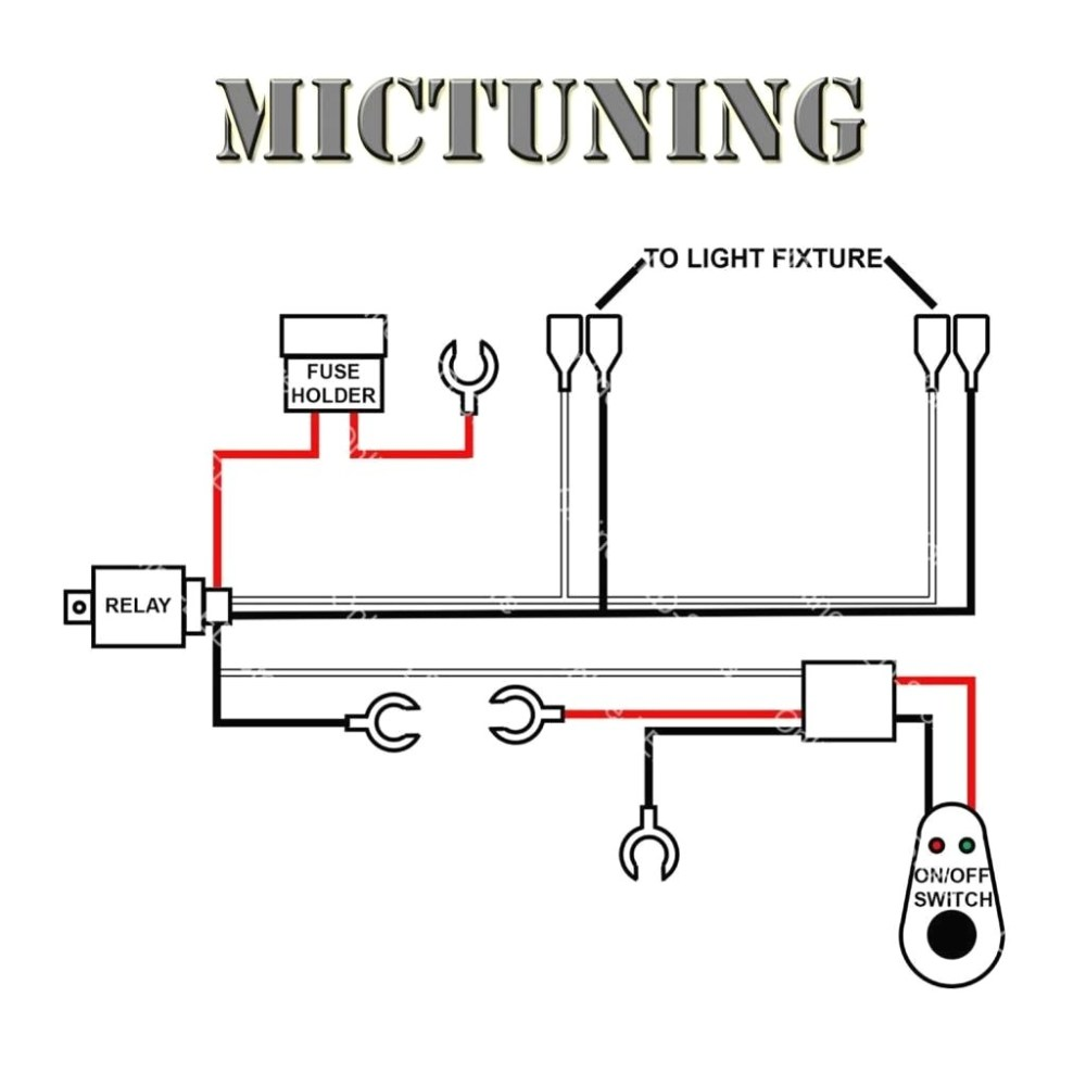 medium resolution of led light bar wiring harness diagram to dual extraordinary for f road lights kc