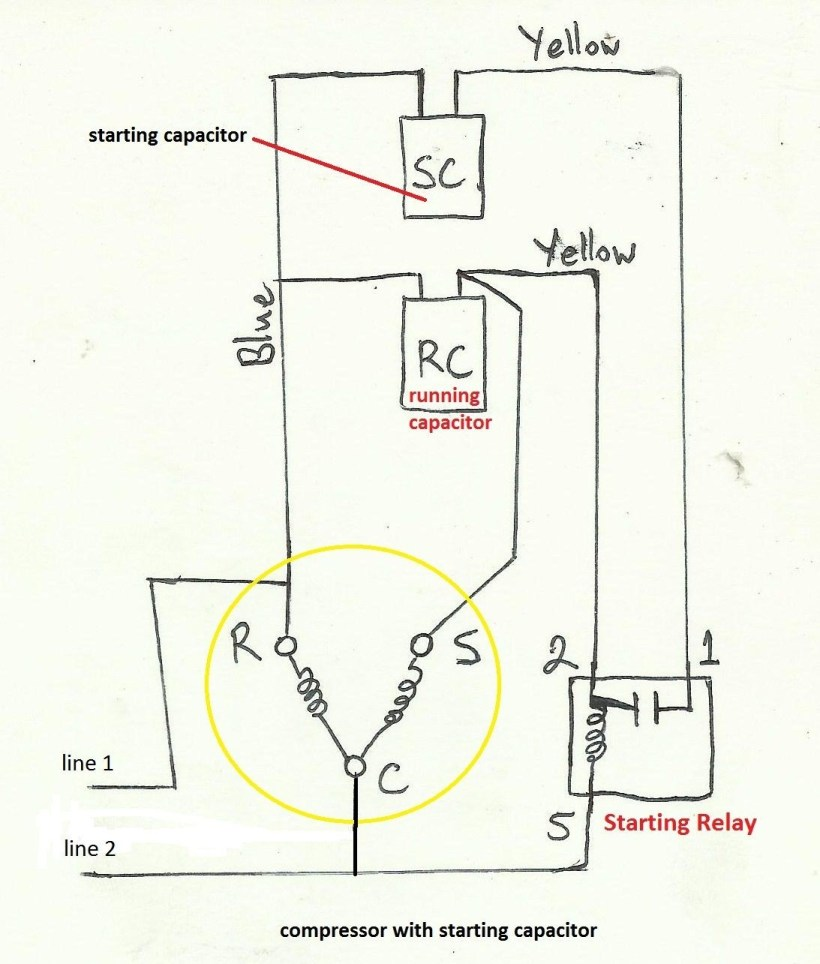 Motor Run Capacitor Wiring Diagram Example Electrical Circuit