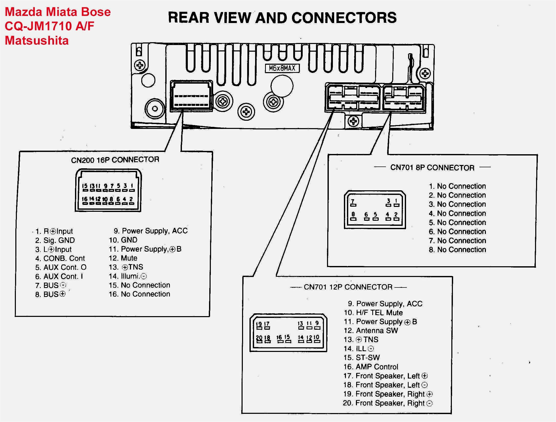 Wiring Diagram Pioneer Stereo