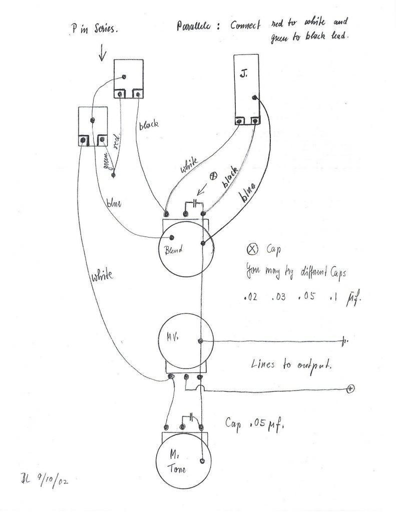 wiring schematic bass 2 pickups