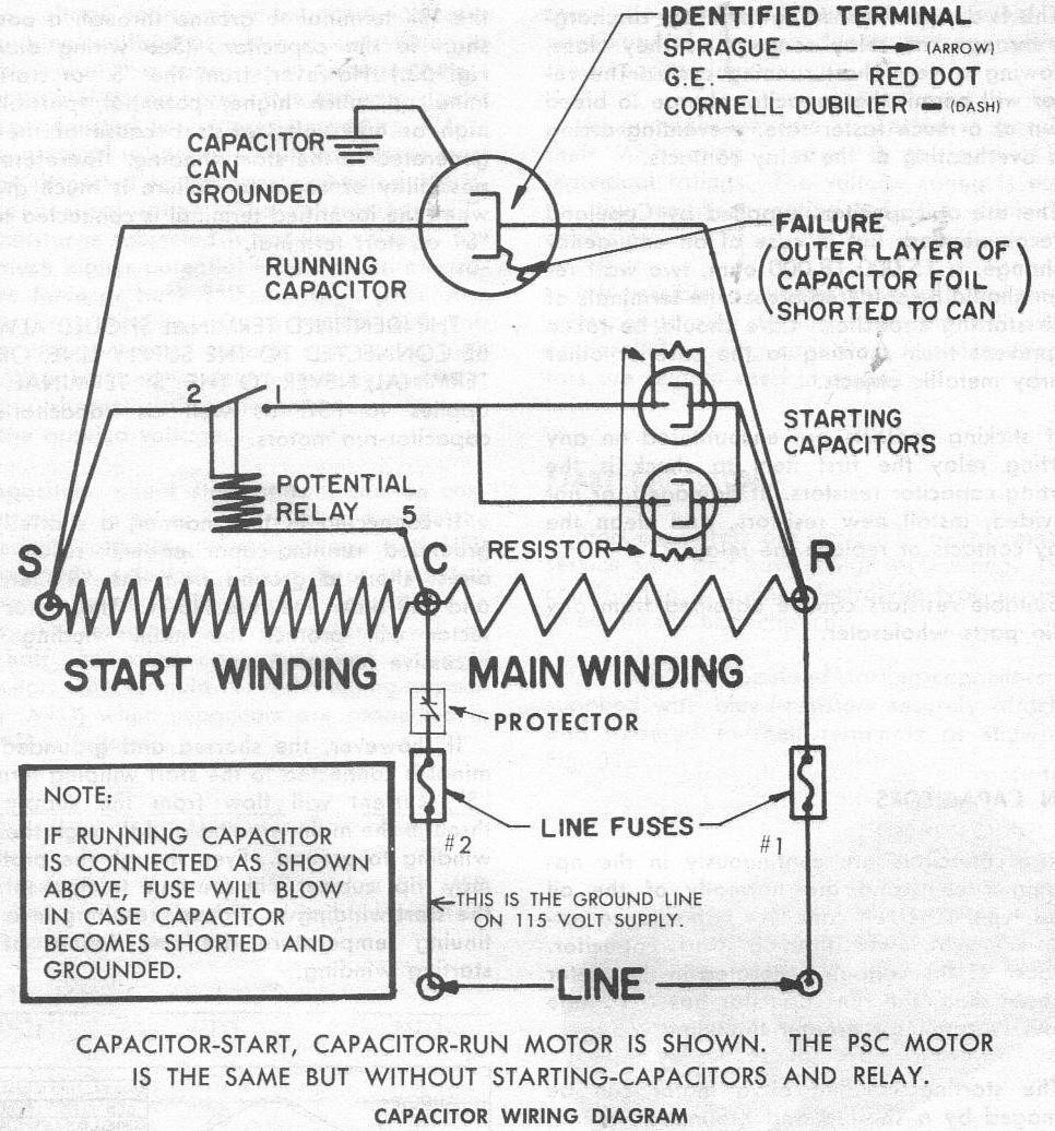 capacitor start motor wiring diagram craftsman motorcycle driving lights best library starting relay of a ladder with current csir 4 way switch